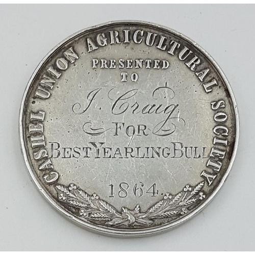 42A - Cashel Union Agricultural Medal (1864)...