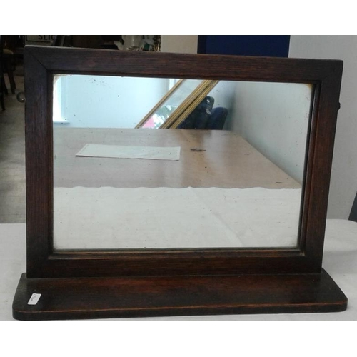 5 - Oak Mirror Shelf, c.16 x 12in...