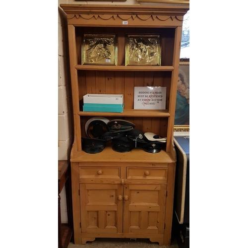 8 - Modern Pine Kitchen Dresser - 38ins (W) x 78ins (H)...