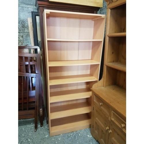 14 - Modern Open Bookshelves, c.31in wide...