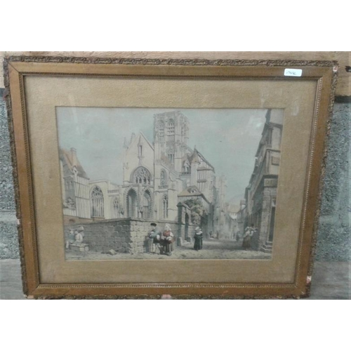 28 - Picture of a Church - Overall c. 19 x 6ins...