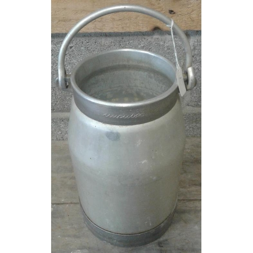 31 - Aluminium Milk Can, c.14in tall...