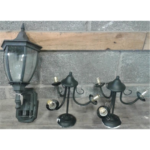 38 - Outdoor Lantern on a Bracket with Lights...
