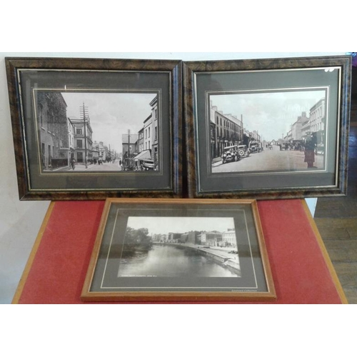 39 - Three Framed Photographs relating to Tullamore and Clonmel...