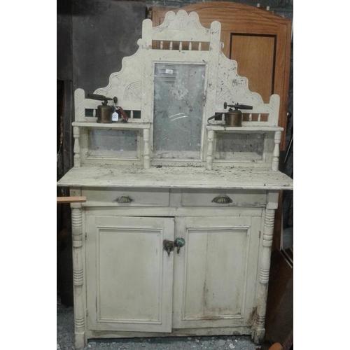 41 - Victorian Pine Mirror Back Chiffonier, c.48 x 74in...