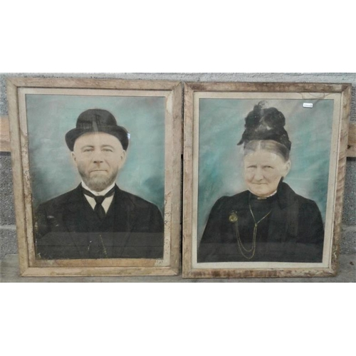 55 - Pair of Portrait Pictures - Overall c. 18 x 22ins...
