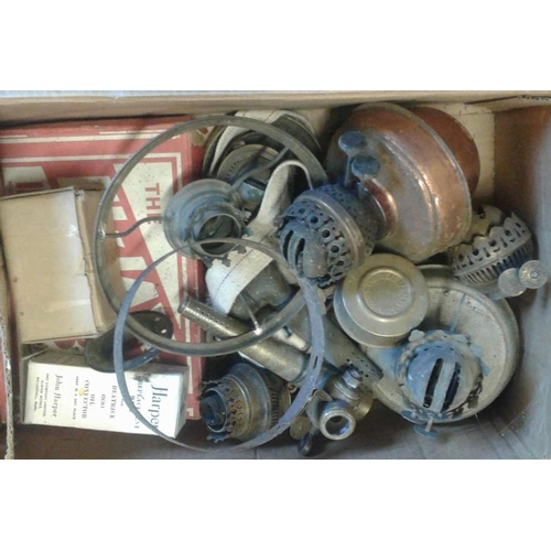 56 - Box of Oil Lamp Parts...