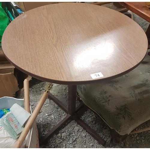 60 - Circular Pub Table, c.24 x 28in...