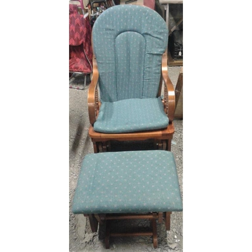 62 - Glider Chair and Stool...