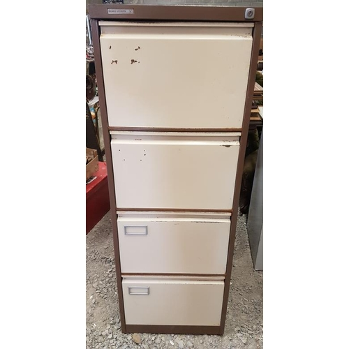 74 - Filing Cabinet with Key - 52ins tall...