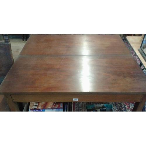 80 - Georgian Mahogany Foldover Tea Table - c. 42ins wide...
