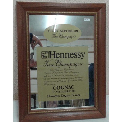 135 - 'Hennessy Cognac' Advertising Mirror - c. 14 x 19ins...