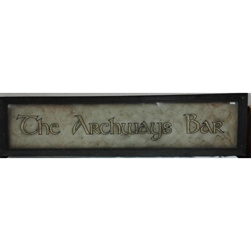 142 - 'The Archways' Bar Sign - 52 x 13ins...