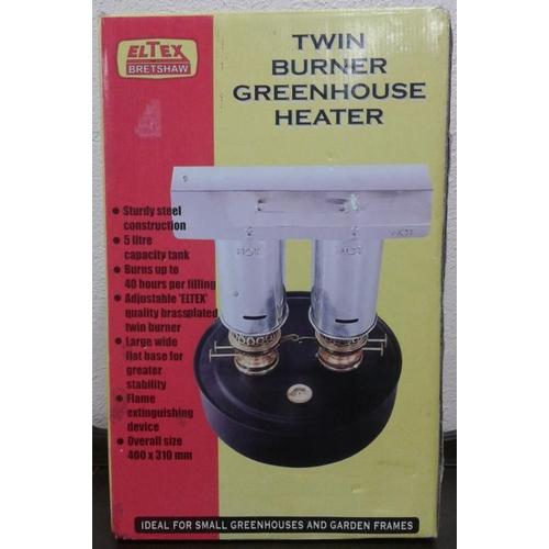 161 - Twin Burner Greenhouse Heater...