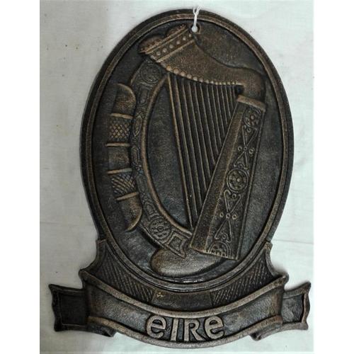 217 - Eire Harp Plaque - c. 7 x 11ins...