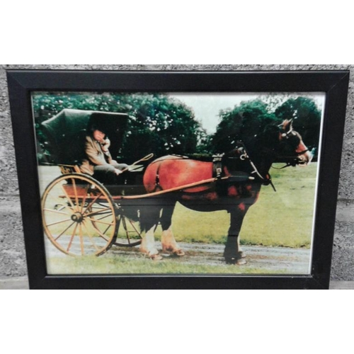 250 - Framed Photograph of Horse & Carriage - Overall c. 13 x 10ins...
