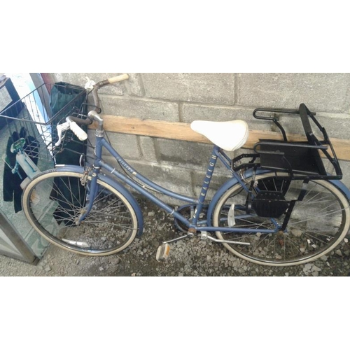 268 - Blue Bicycle with Basket...