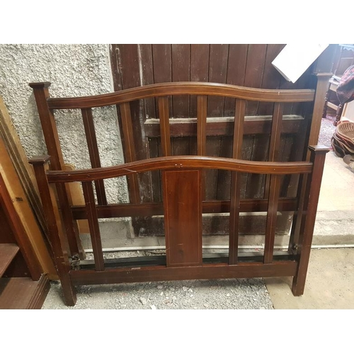 24 - Edwardian Inlaid Mahogany Bed Frame - 4'6
