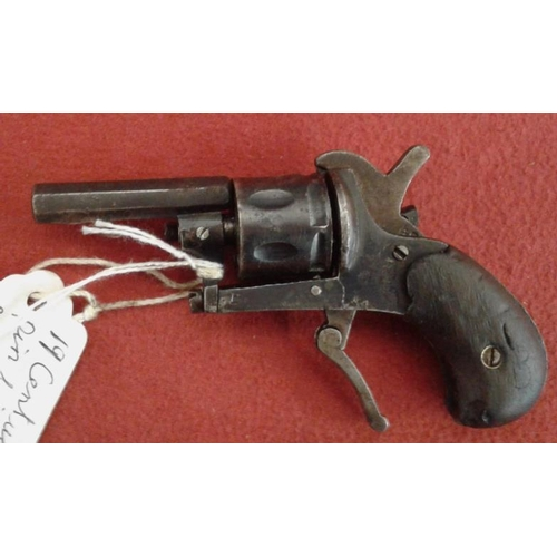 316 - 19th Century Pin Fire Revolver with Folding Trigger...