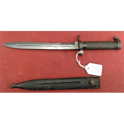 327 - World War II Bayonet in Steel Scabbard and a Trench Spade...