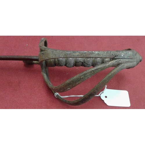 328 - Victorian 3-Bar Piped Back Sword...