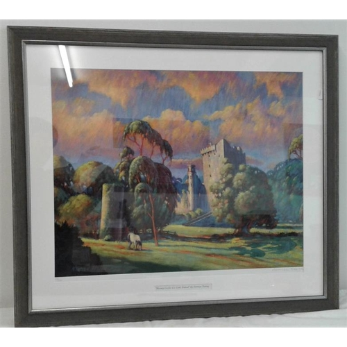 378 - Limited Edition Print by Norman Teeling - 'Blarney Castle' - Overall c. 27 x 30ins...