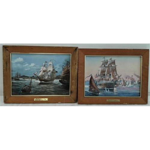 381 - Two Models of Boats and Two Nautical Plaques...