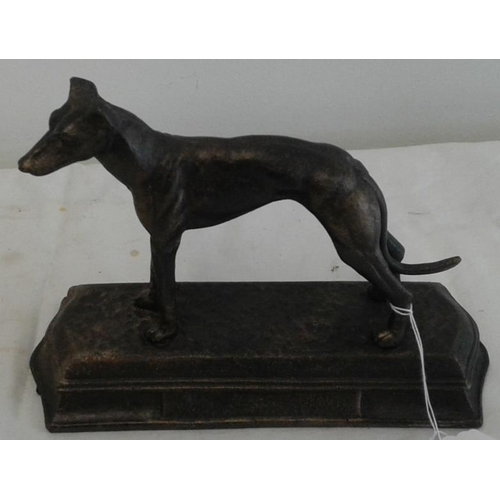 385 - Figure of a Greyhound, c.7in tall...