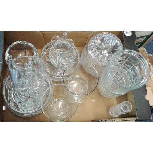 403 - Box of Crystal/Cut Glass Items...