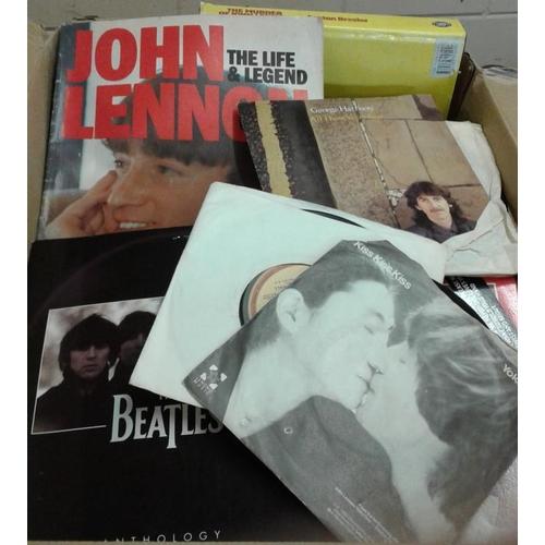 408 - Beatles Memorabilia:  Books, 1960's Magazines and 45's...