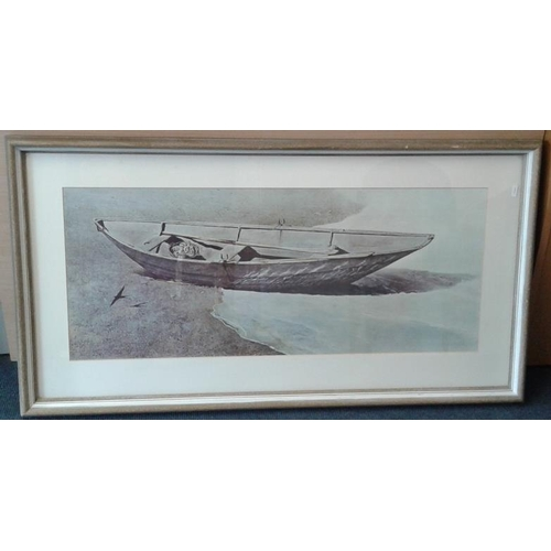 434 - Large Print of a Boat - 24 x 43ins...