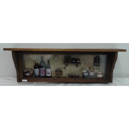 436 - Wooden Shelf Ornament, c.24in wide...