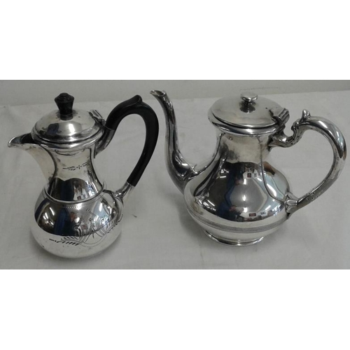 439 - Good Silver Plated Coffee Pot with a Chocolate Pot...