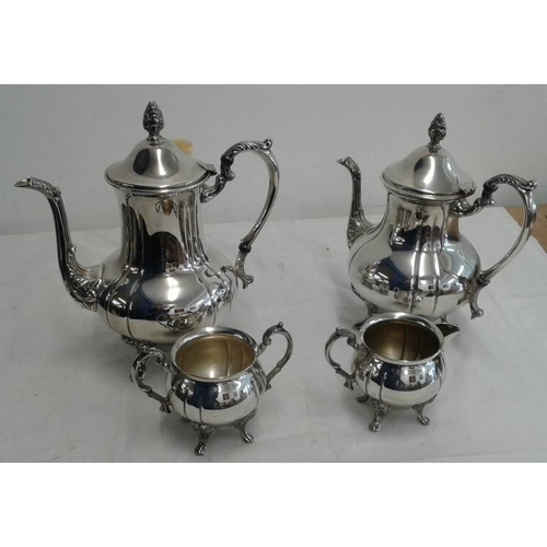 440 - Four Pieces of Silver Plated Footed  Tea/Coffee Set...