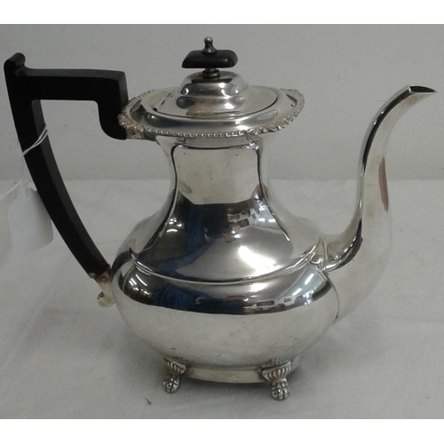 443 - Viners Silver Plated Coffee Pot (good condition)...