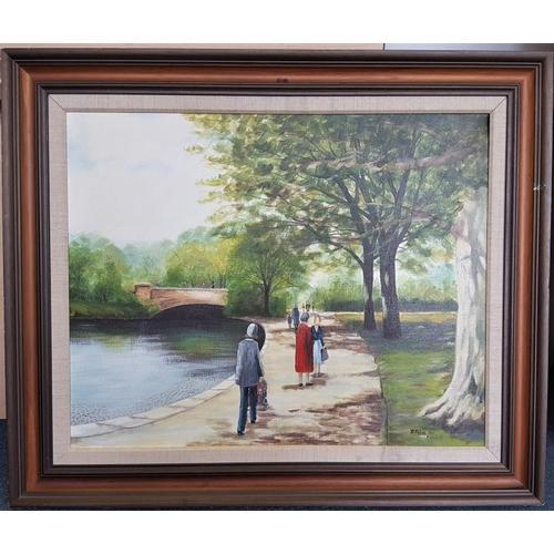 449 - Frank Feld, Oil on Canvas Painting