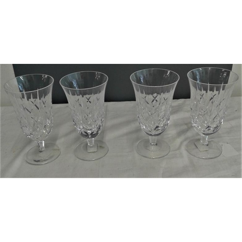 451 - Set of Four Waterford Crystal Glasses, c.6.5in tall...