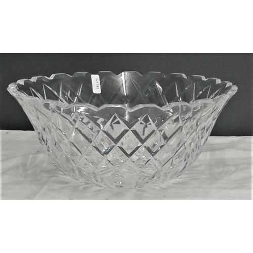 454 - Waterford Crystal Centre Dish - 9ins Diameter, 4ins deep...