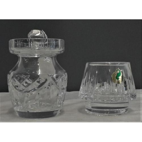 456 - Waterford Crystal Lidded Jar and Night Light Holder...