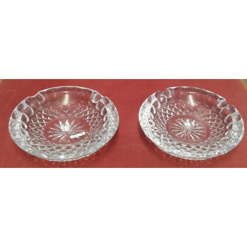 461 - Pair of Waterford Crystal Ashtrays...