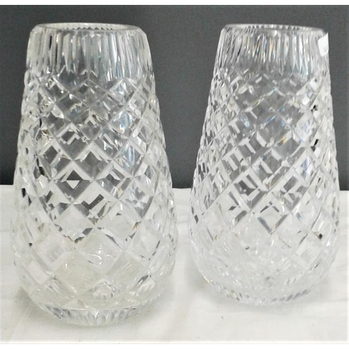 463 - Pair of Waterford Crystal Vases - 7ins tall...