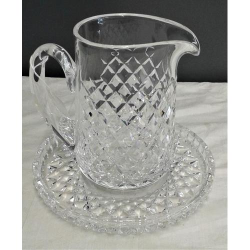 465 - Waterford Crystal Jug and Circular Tray...