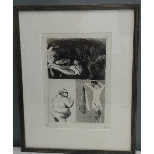 468 - Two Limited Edition Prints - Kane '71 (8/45);  and Alice Hanratty 1978 'Clowns'  (52/75)...