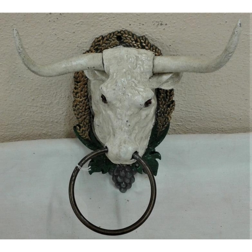 478 - Large Bull's Head Towel Holder, .12in tall...