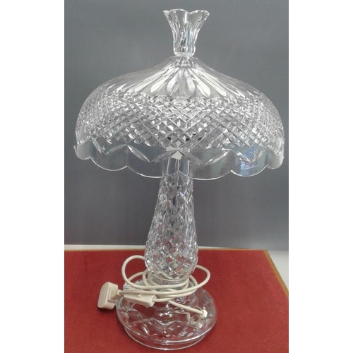 535 - Waterford Crystal Table Lamp, c.22.5in tall...