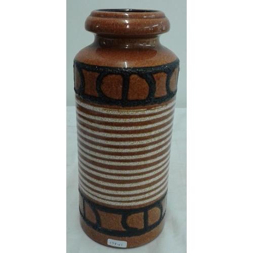 548 - 1970's West German Lava Glaze Vase (c. 12ins tall)...