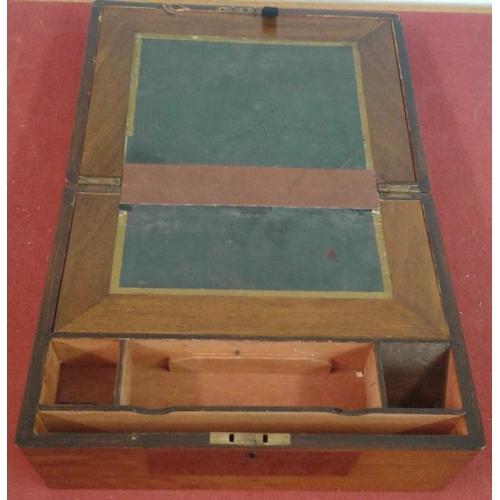 595 - Walnut Writing Box with Inlay...