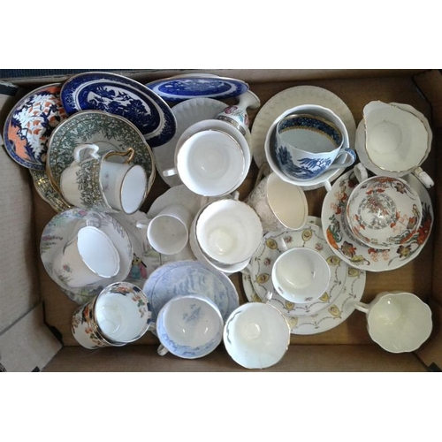 603 - Boxed Lot of Trios and Tea Wares...