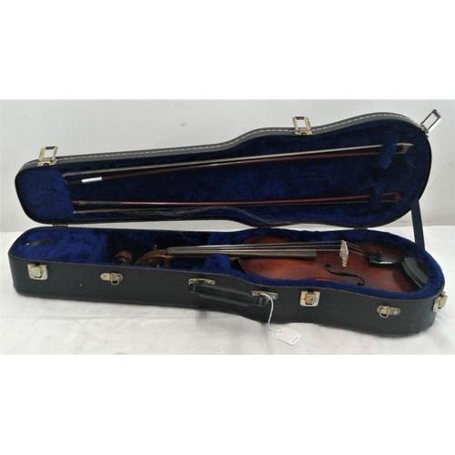 619 - Violin in Black Case, hand written inside 'Amati By Philippe'...