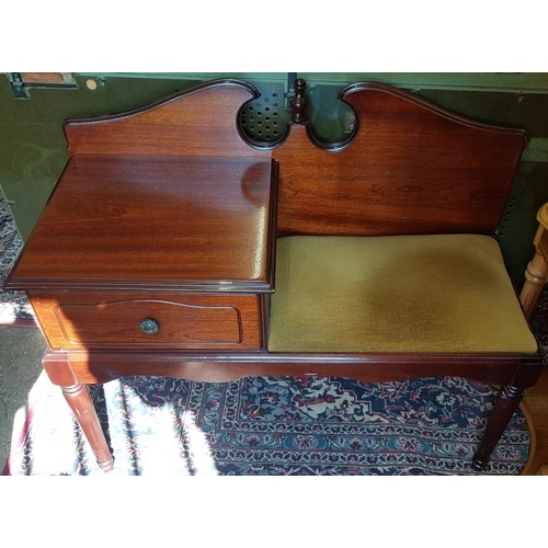 634 - Telephone Table/Seat, c.36in wide...